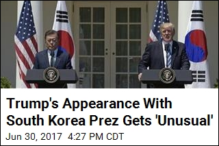 Trump's Appearance With South Korea Prez Gets 'Unusual'