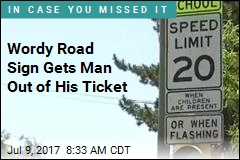 Man Says Road Sign Was Too Wordy, Beats Speeding Ticket