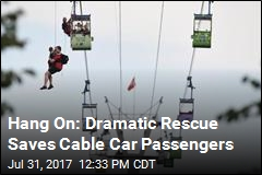 What a 130-Foot-High Cable Car Rescue Looks Like