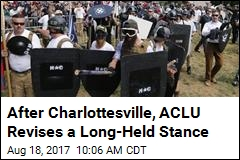ACLU: We Won't Defend Groups Who Come Armed to Protests