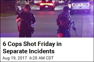 6 Cops Shot Friday in Separate Incidents