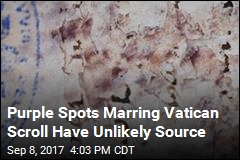 Purple Spots Marring Vatican Scroll Have Unlikely Source
