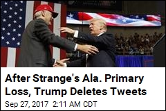 Trump Deletes Pro-Strange Tweets After Primary Loss