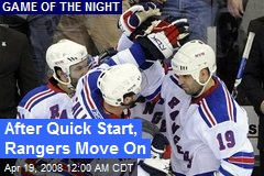 After Quick Start, Rangers Move On