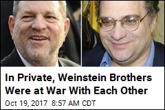 In Private, Weinstein Brothers Were at War With Each Other