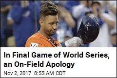 In Final Game of World Series, an On-Field Apology