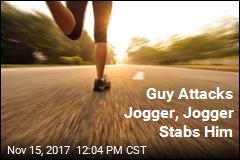 Guy Attacks Jogger, Jogger Stabs Him