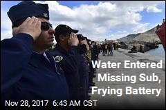 Water Entered Missing Sub, Frying Battery