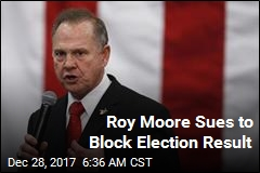 Roy Moore Sues to Block Election Result