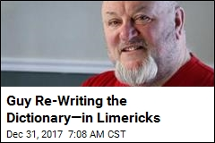 Guy Re-Writing the Dictionary—in Limericks