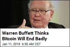 Buffett: Cryptocurrencies 'Will Come to Bad Ending'