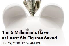 1 in 6 Millennials Have at Least Six Figures Saved
