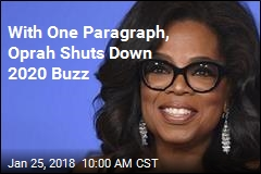 With One Paragraph, Oprah Shuts Down 2020 Buzz