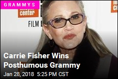 Carrie Fisher Wins Posthumous Grammy