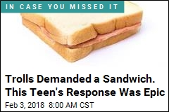 Amid South Pole Feat, Teen Burns Trolls With a Sandwich