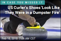 US Curler's Shoes 'Look Like They Were in a Dumpster Fire'