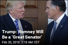 Trump Endorses Romney for Senate