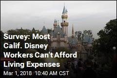 Survey: Most Calif. Disney Workers Can't Afford Living Expenses