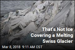 That's Not Ice Covering a Melting Swiss Glacier