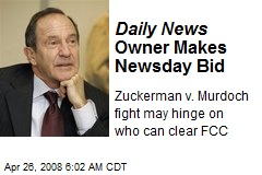 Daily News Owner Makes Newsday Bid