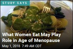 What Women Eat May Play Role in Age of Menopause