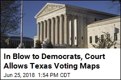 In Blow to Democrats, Court Allows Texas Voting Maps