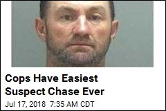 Cops Have Easiest Suspect Chase Ever