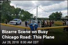 Bizarre Scene on Busy Chicago Road: This Plane