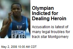 Olympian Indicted for Dealing Heroin