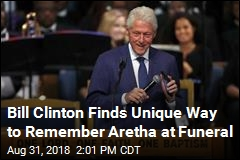Bill Clinton Finds Unique Way to Remember Aretha at Funeral