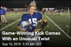 Homecoming Queen Makes Game-Winning Kick