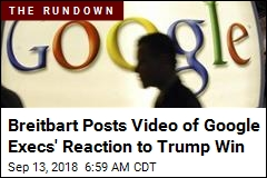 Breitbart: Video Shows Google Execs' Bias After Election