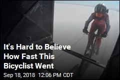It's Hard to Believe How Fast This Bicyclist Went