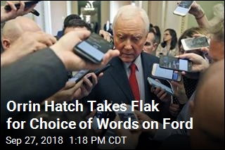 Orrin Hatch Takes Flak for Choice of Words on Ford