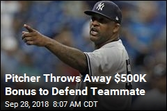 Pitcher Throws Away $500K Bonus to Defend Teammate