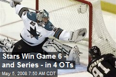 Stars Win Game 6 - and Series - in 4 OTs