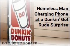 Dunkin' Workers Canned After Dumping Water on Homeless Man