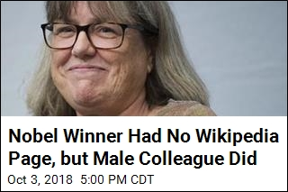 Female Nobel Winner Wasn't Famous Enough for Wikipedia