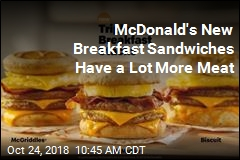 Giant New Breakfast Sandwiches Coming to McDonald's