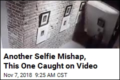 Another Selfie Mishap, This One Caught on Video
