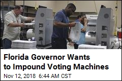 Florida Governor Wants to Impound Voting Machines