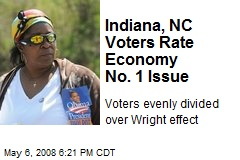 Indiana, NC Voters Rate Economy No. 1 Issue