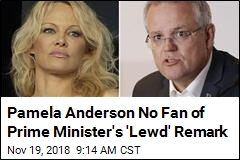 Pamela Anderson Hits at Prime Minister's 'Smutty' Quip