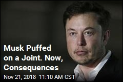 Musk Puffed on a Joint. Now, Consequences