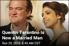 Quentin Tarantino Is Now a Married Man