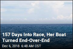 157 Days Into Race, Her Boat Turned End-Over-End