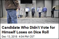 Candidate Who Didn't Vote for Himself Loses on Dice Roll