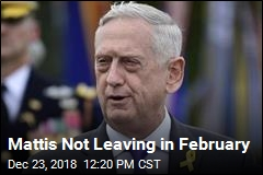 Mattis Gets Pushed Out