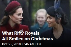 What Rift? Royals All Smiles on Christmas