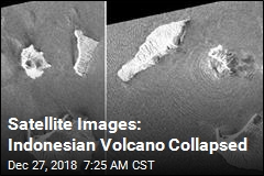 Satellite Images: Indonesian Volcano Collapsed